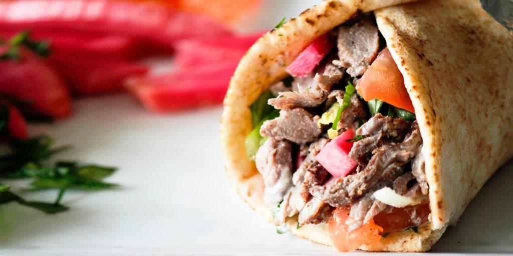 Yummy beef wrap